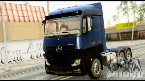 Mercedes-Benz Actros MP4 6x4 Exclucive Interior для GTA San Andreas