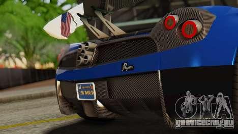 Pegassi Osyra Extra 1 для GTA San Andreas вид сзади
