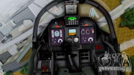 Embraer EMB-314 Super Tucano (FAP) для GTA San Andreas вид сзади