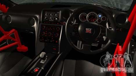 Nissan GT-R R35 Black Rock Shooter Itasha для GTA San Andreas вид сзади слева