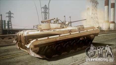 Call of Duty 4: Modern Warfare BMP-2 для GTA San Andreas вид сзади слева