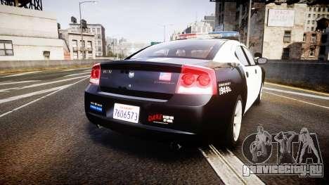 Dodge Charger 2010 LAPD [ELS] для GTA 4 вид сзади слева