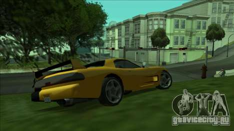 ZR-350 Double Lightning для GTA San Andreas вид сзади слева