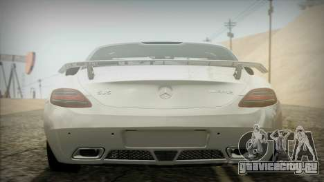 Mercedes-Benz SLS AMG 2013 для GTA San Andreas вид сзади