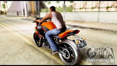 Kawasaki Z250SL Orange для GTA San Andreas вид слева