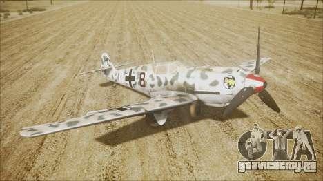Messerschmitt BF-109 E-4 IJAAF для GTA San Andreas вид сзади слева
