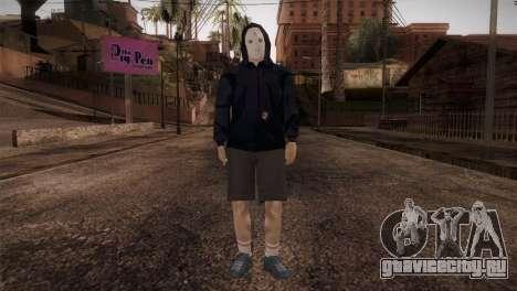 Наёмник мафии в капюшоне и в маске для GTA San Andreas второй скриншот