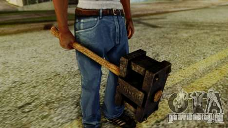 Bogeyman Hammer from Silent Hill Downpour v1 для GTA San Andreas второй скриншот
