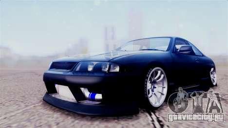 Nissan Skyline ER33 для GTA San Andreas вид сзади