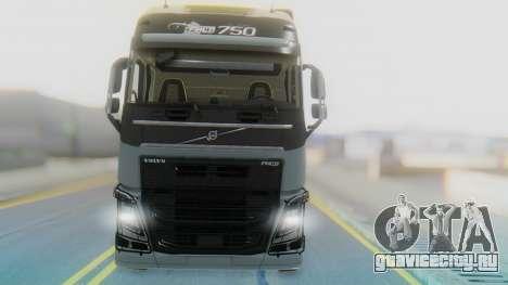 Volvo FH Euro 6 Heavy 8x4 для GTA San Andreas вид сзади