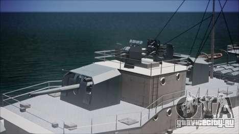 Type 34 Destroyer для GTA San Andreas вид сзади