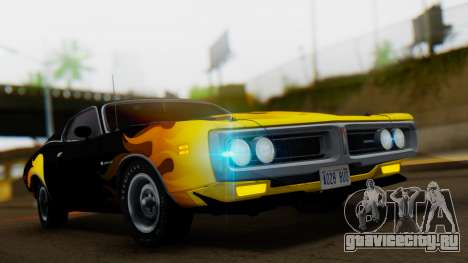 Dodge Charger Super Bee 426 Hemi (WS23) 1971 IVF для GTA San Andreas вид сбоку