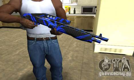Blue Lines Combat Shotgun для GTA San Andreas