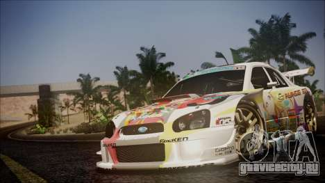 Subaru Impreza 2003 Love Live Muse Team Itasha для GTA San Andreas вид сверху