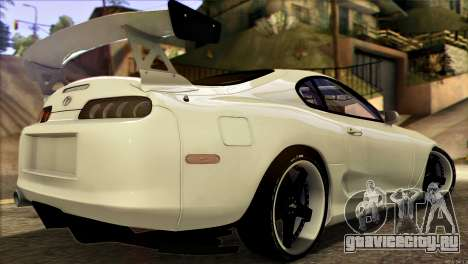 Toyota Supra 1998 E-Design для GTA San Andreas вид слева