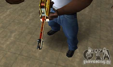 Golden AUG A3 для GTA San Andreas второй скриншот