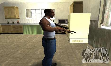 Gold Sniper Rifle для GTA San Andreas второй скриншот