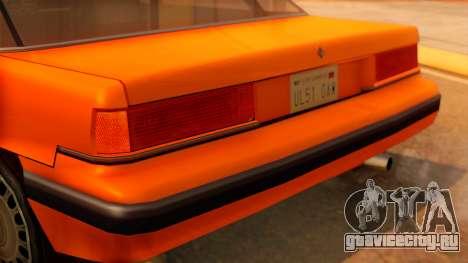 Taxi Intruder для GTA San Andreas вид сзади