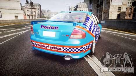 Ford Falcon BA XR8 Police [ELS] для GTA 4 вид сзади слева