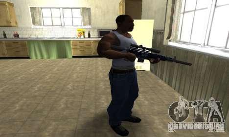 Blue Oval Sniper Rifle для GTA San Andreas третий скриншот