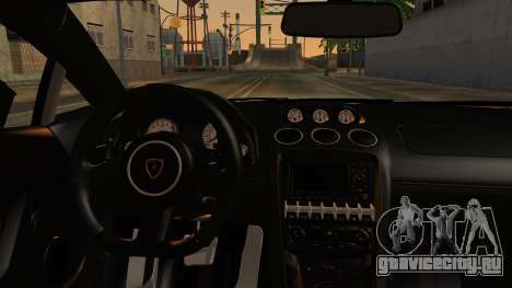 Lamborghini Gallardo Superleggera 2011 для GTA San Andreas вид сзади