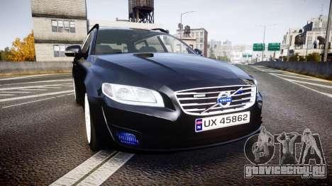 Volvo V70 2014 Unmarked Police [ELS] для GTA 4