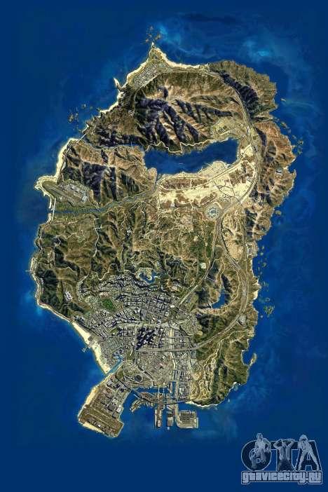Спутниковая карта в 2K для GTA 5