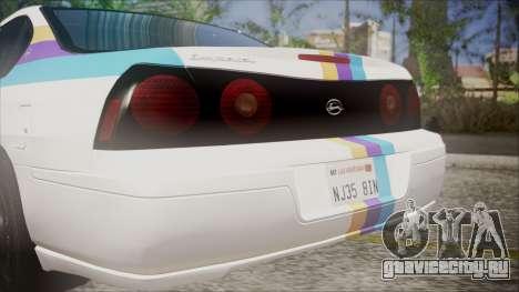 Chevrolet Impala FBI Slicktop для GTA San Andreas вид сзади