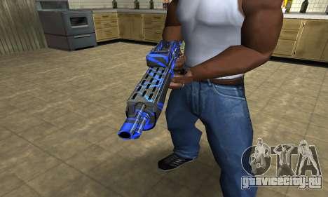 Blue Lines Combat Shotgun для GTA San Andreas второй скриншот