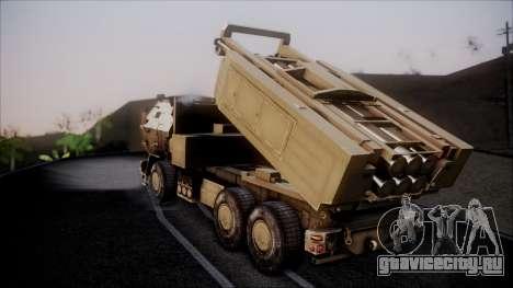 M142 HIMARS Desert Camo для GTA San Andreas вид слева
