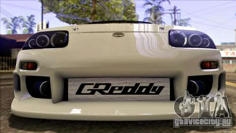 Toyota Supra 1998 E-Design для GTA San Andreas вид сбоку