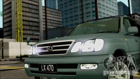 Lexus LX470 для GTA San Andreas вид справа