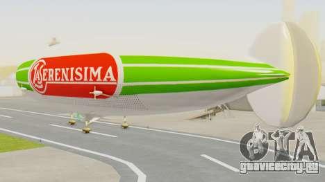 Dirigible de La Serenisima 1995 для GTA San Andreas вид слева