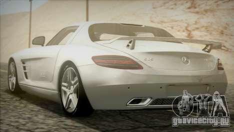 Mercedes-Benz SLS AMG 2013 для GTA San Andreas вид сзади слева