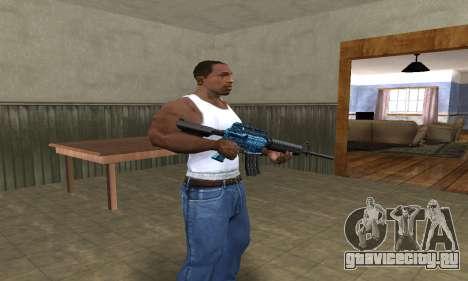 M4 Blue Snow для GTA San Andreas второй скриншот