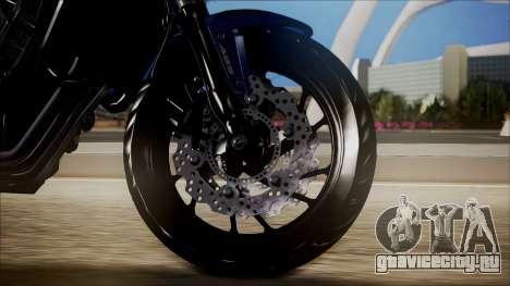 Honda CB650F Azul для GTA San Andreas вид сзади слева