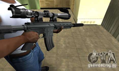 M4 with Optical Scope для GTA San Andreas