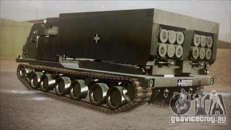 Hellenic Army M270 MLRS для GTA San Andreas вид слева
