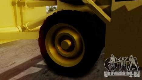 HVY Cutter для GTA San Andreas вид сзади слева