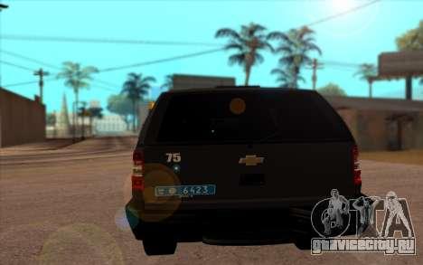 Сhevrolet Blazer Беркут для GTA San Andreas вид сзади слева