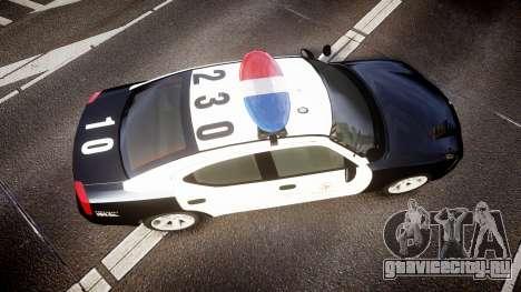 Dodge Charger 2010 LAPD [ELS] для GTA 4 вид справа