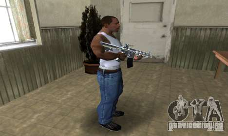 White Cool M4 для GTA San Andreas третий скриншот