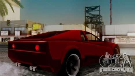 Cheetah New Edition для GTA San Andreas вид слева