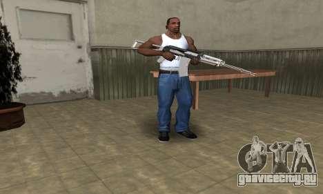 White with Black AK-47 для GTA San Andreas третий скриншот
