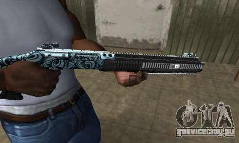 Blue Snow Shotgun для GTA San Andreas