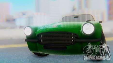 Invetero Coquette BlackFin v2 GTA 5 Plate для GTA San Andreas вид сзади