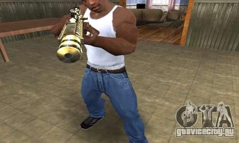 Gold Lines AK-47 для GTA San Andreas второй скриншот