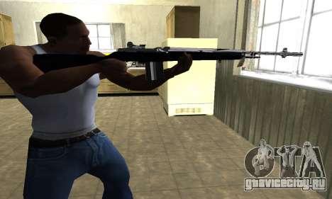 Full Black Rifle для GTA San Andreas второй скриншот