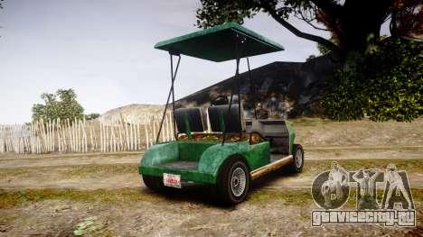 GTA V Nagasaki Caddy для GTA 4 вид сзади слева