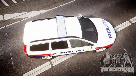 Volvo V70 2014 Norwegian Police [ELS] для GTA 4 вид справа